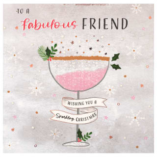 Fabulous Friend - Christmas Card