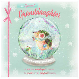 To a Special Grandaughter - Christmas Card