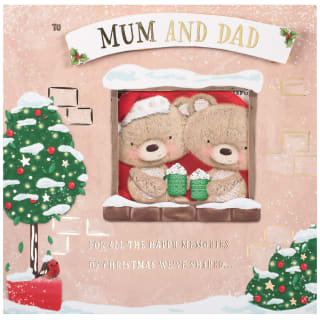 Mum & Dad Teddy Bears - Christmas Card