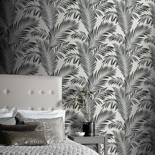 Diamond Tropical Palm Mono Wallpaper