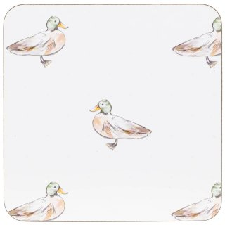 Traditional Cork Placemat & Coaster Set 8pc - Ducks