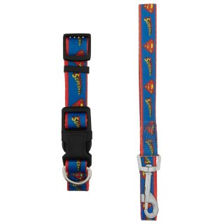 DC Comics Dog Collar & Lead - Superman