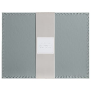 Leatherette Place Mats 2pk - Grey