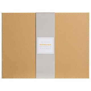 Reversible Leatherette Placemats 2pk