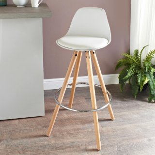Bjorn Bar Stool - White