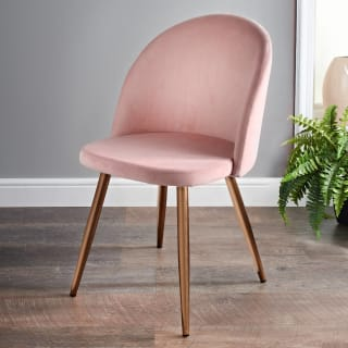 Moden Velour Chair - Blush