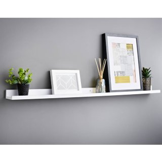 Lokken Photo Shelf 120cm - White