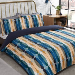 Retro Geo Double Duvet Set