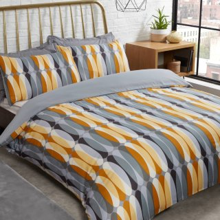 Retro Geo King Duvet Set