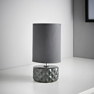 Geo Ceramic Lamp - Grey
