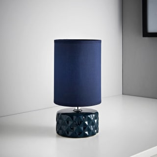 Geo Ceramic Lamp - Navy
