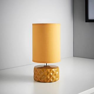 Geo Ceramic Lamp - Ochre
