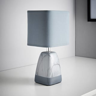 Marble Effect Table Lamp - Dark Grey