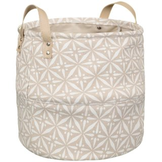 Printed Storage Basket - Tan