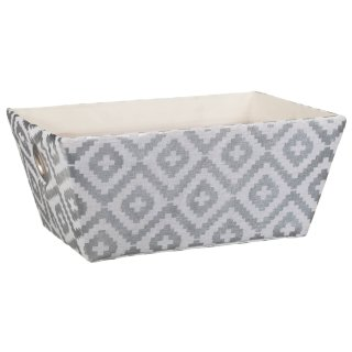 Aztec Foil Basket - Grey