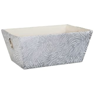 Animal Print Foil Basket - Zebra