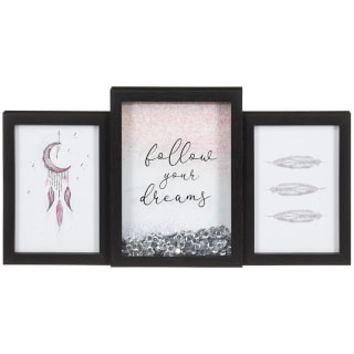 Black Glitter Shaker Frame - Follow Your Dreams
