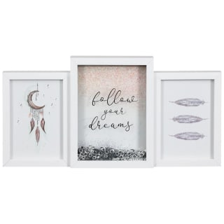 White Glitter Shaker Frame - Follow Your Dreams