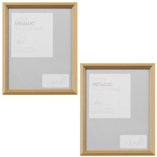 "Metallic Etch Photo Frame 8 x 10"" 2pk - Gold"
