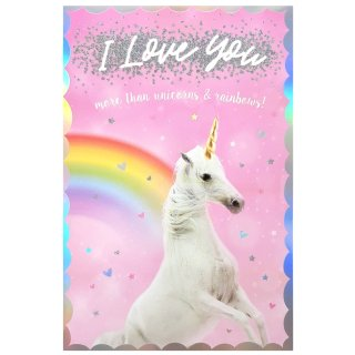Unicorns & Rainbows - Valentine's Day Card