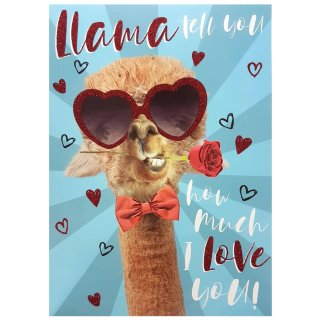 Llama Tell You - Valentine's Day Card