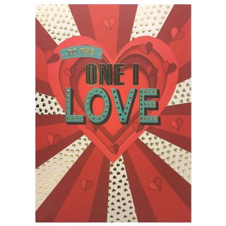 To the One I Love - Valentine's Day Card