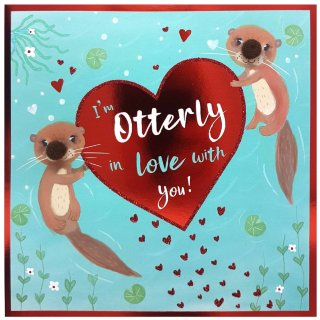 Otterly in Love - Valentine's Day Card