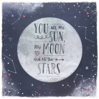 Sun, Moon & Stars - Valentine's Day Card