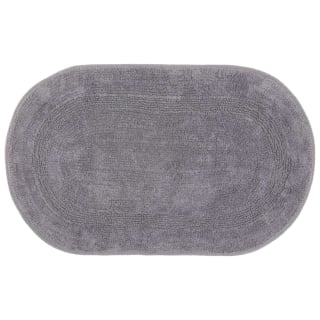 Oval Bath Mat 45 x 75cm - Grey