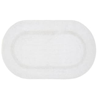 Oval Bath Mat 45 x 75cm - White