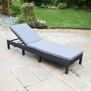 Bali Rattan Effect Multi Position Lounger