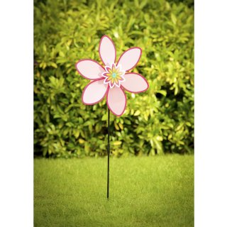 Flower Windmill Stake - Pink