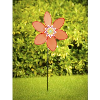 Flower Windmill Stake - Red