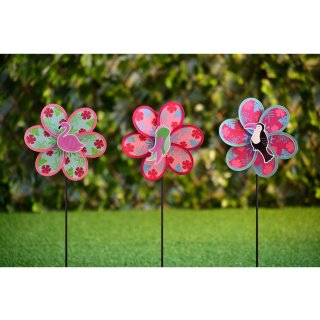 Kids Character Windmill Stakes 3pk - Flamingo