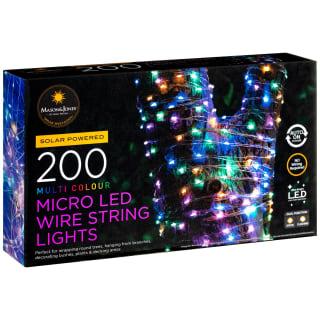 Mason & Jones Micro LED String Lights 200pk - Multi