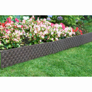 Rattan Effect Border Fence 4pk - Brown