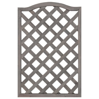 Curved Framed Diamond Trellis - Grey