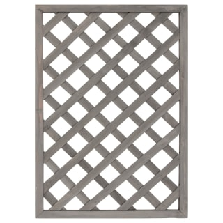 Straight Framed Diamond Trellis - Grey