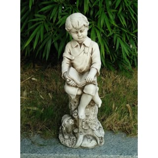 Little Boy Reading Garden Statue