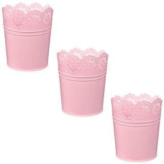 Boho Garden Decorative Metal Planters 3pk - Pink