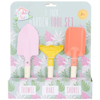 Kids Club Garden Tool Set 3pk - Floral
