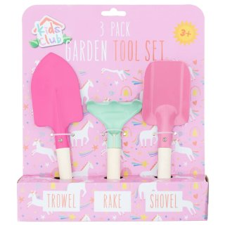 Kids Club Garden Tool Set 3pk - Unicorn