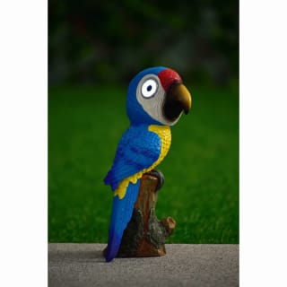 Big Eyed Parrot Solar Light - Blue