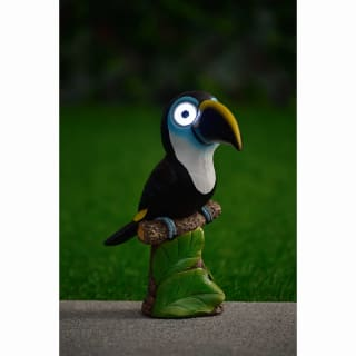 Big Eyed Toucan Solar Light - White