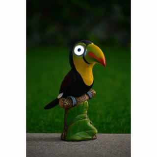 Big Eyed Toucan Solar Light - Yellow