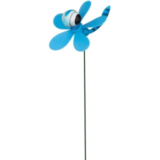 Insect Wind Spinning Stake - Blue Dragonfly