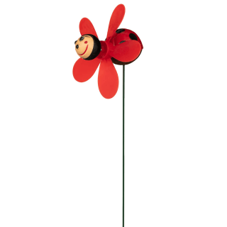 Insect Wind Spinning Stake - Ladybird