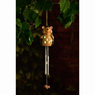 Ceramic Solar Light Wind Chime - Hedgehog