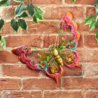 Metallic Butterfly Wall Art with Jewels