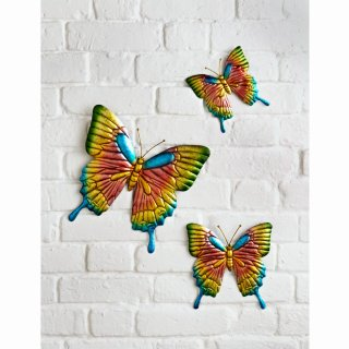 Butterflies Wall Art 3pk - Pink
